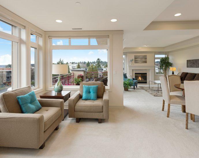 műanyag ablak és szép nappali
